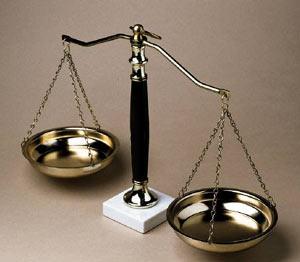 Balança, símbolo das leis que remetem a igualdade.