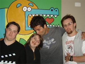 Ariel, Rita, diretor Marcelo Galvão e Rodrigo
