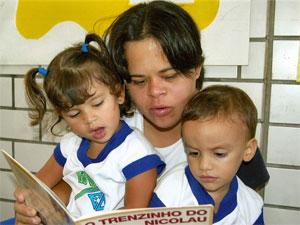 Débora é professora na Escola Doméstica, em Natal (RN), há nove anos