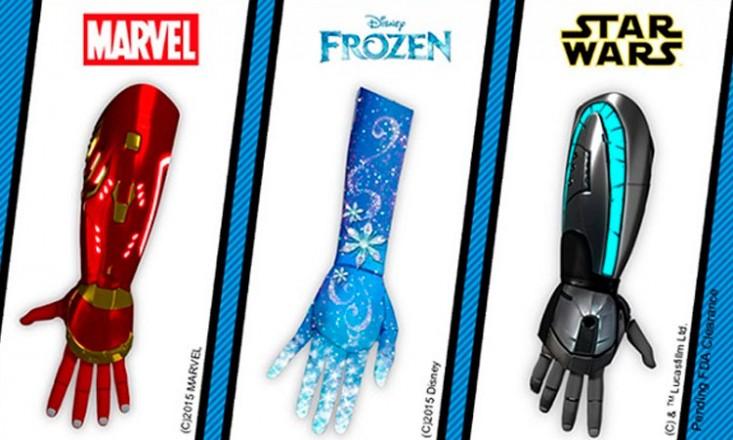 Três modelos de braços biônicos