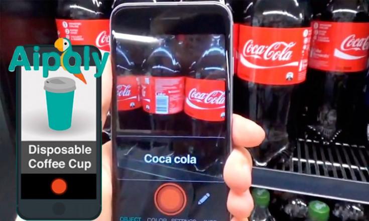 Celular de frente para várias garrafas de coca-cola em uma geladeira