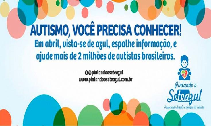 Convite para eventos do Dia Mundial da Conscientização do Autismo